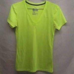 Nike Dri Fit V Neck T shirt Sz.XS High Yellow